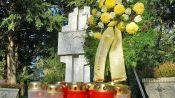 Kranzniederlegung am Denkmal der Billeder auf dem Karlsruher Hauptfriedhof