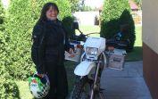 Eine Ex-Billederin aus Frankenthal vor dem Start zu einer Motorradrundreise durch Rumänien