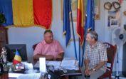 Empfang bei Bürgermeister Leontin Duta, links