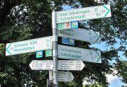 Kreuzung von Radwegen