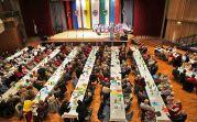 Der Tag der Heimat 2014 der Vertriebenenverbände im Raum Karlsruhe unter dem Motto: >>Deutschland geht nicht ohne uns<< am 11. Oktober 2014 in der Badnerlandhalle in Karlsruhe-Neureut