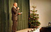 Werner Gilde, Vorsitzender des Kreisverbandes der Banater Schwaben Karlsruhe und der HOG Billed, eröffnet die Feier