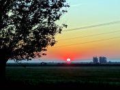 Sonnenaufgang beim Abschied aus Billed