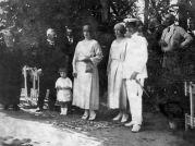 Hoher Besuch bei der Familie Petö im Billeder Kastell bereits 1922