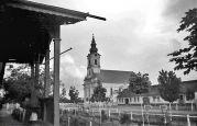 15.05.1944 Liebling: Dorfstraße mit Kirche vor dem Rathaus